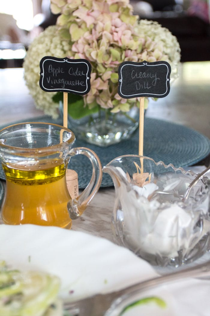 Easy creamy dill and apple cider vinegar salad dressings