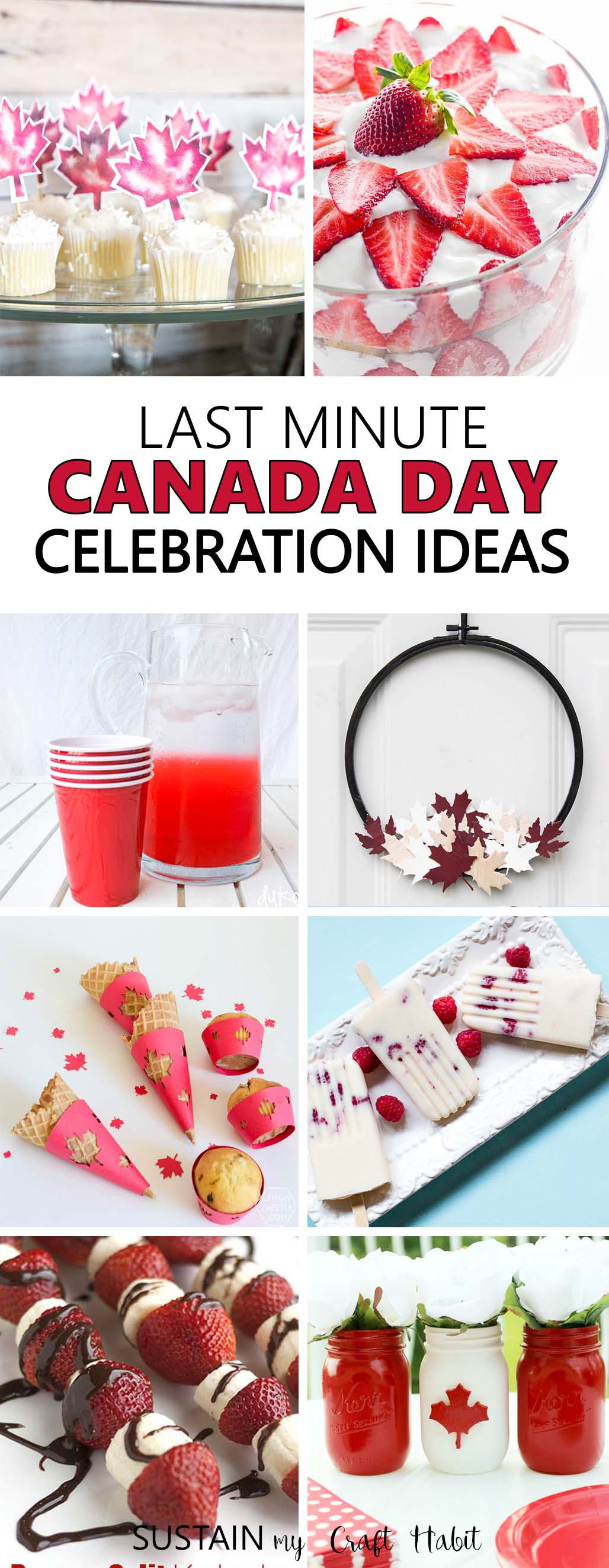 Canada Day is just around the corner. Whether you're planning ahead or looking for last minute party ideas, choose from these red and white themed Canada Day celebration ideas to get into the spirit! #canadaday #ocanada #canada1550