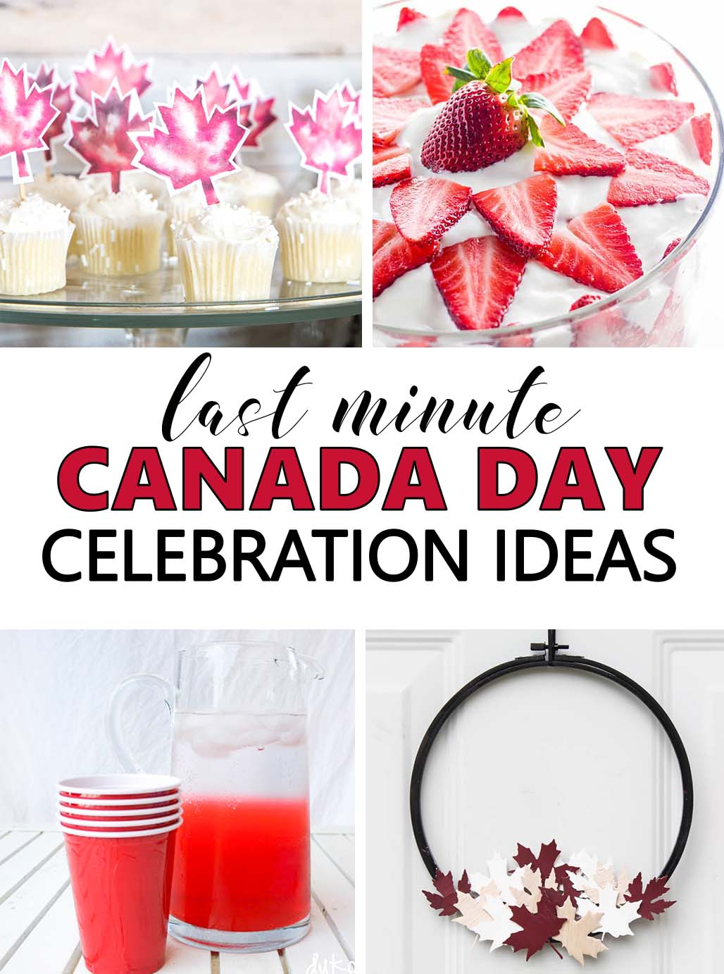 Canada Day is just around the corner. Whether you're planning ahead or looking for last minute party ideas, choose from these red and white themed Canada Day celebration ideas to get into the spirit!