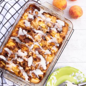 streusel cake with peaches