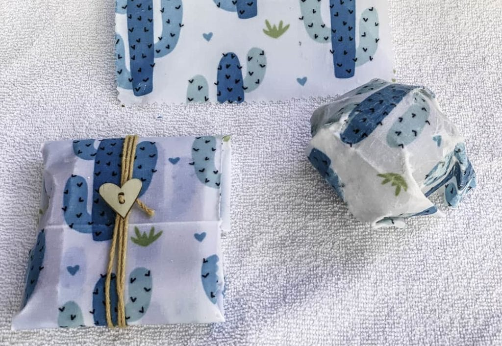 Cactus pattern soy food wrappers.