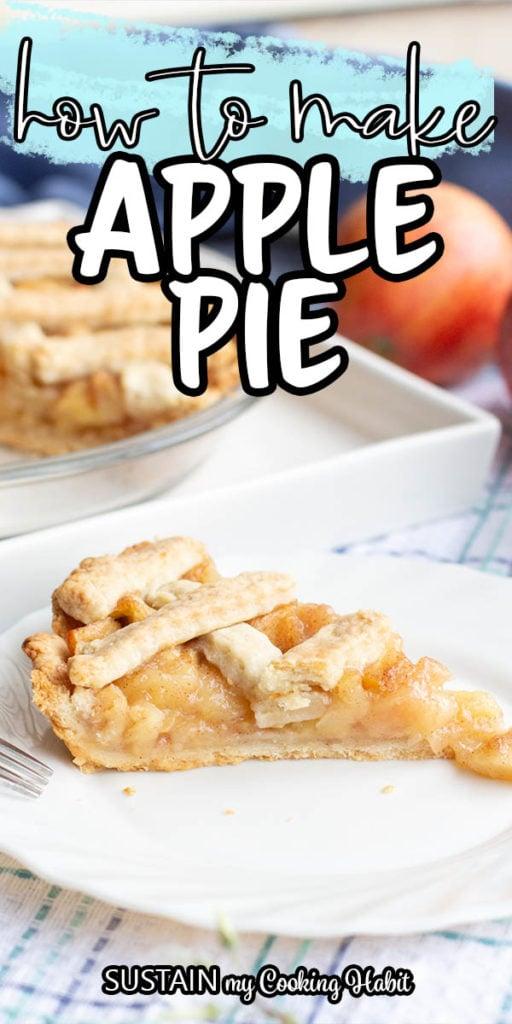 delicious apple pie with lattice pie crust