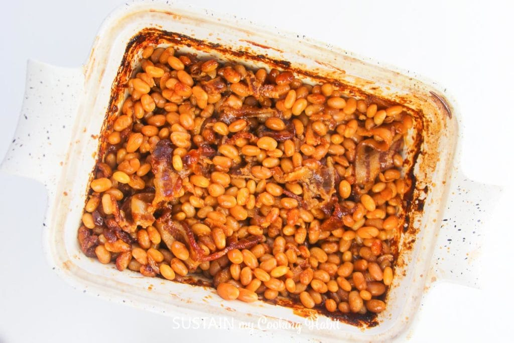 cooked boston  baked beans.