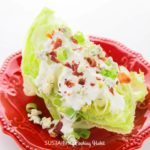 Iceburg wedge salad.
