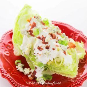 Iceburg wedge salad.