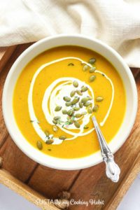 bowl of roasted pumpkin soup