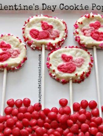 Valentine treats for kids cookie pops.