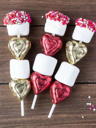 Valentine treats for kids candy kabob