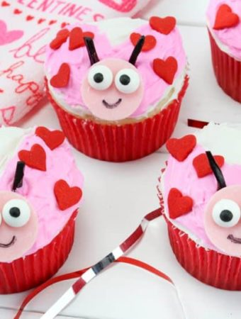 Valentine treats for kids ladybug cupcakes.