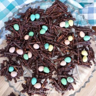 platter full of Easter nest cookies