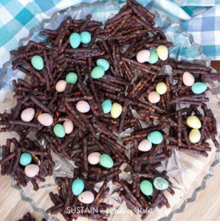 platter full of Easter nest cookies